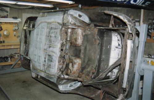 356 Porsche on rotisserie