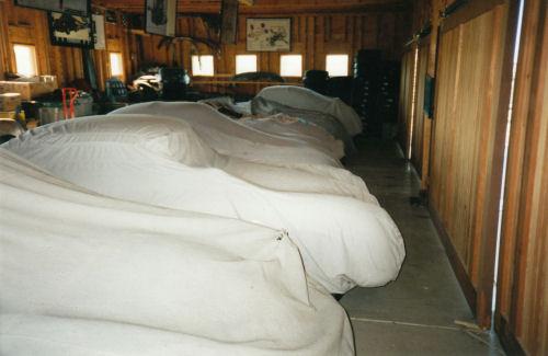 Stored 356 Porsches